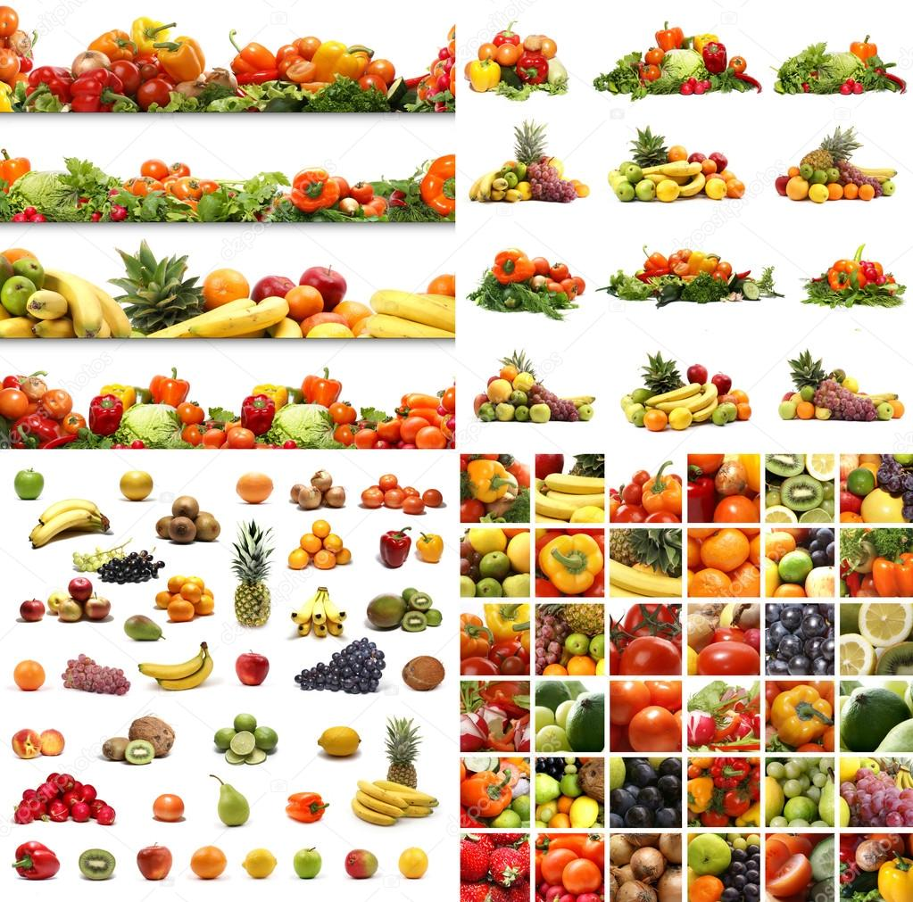 Set of different nutrition elements. Necessary for  food designs.  — Stock Photo #16025947