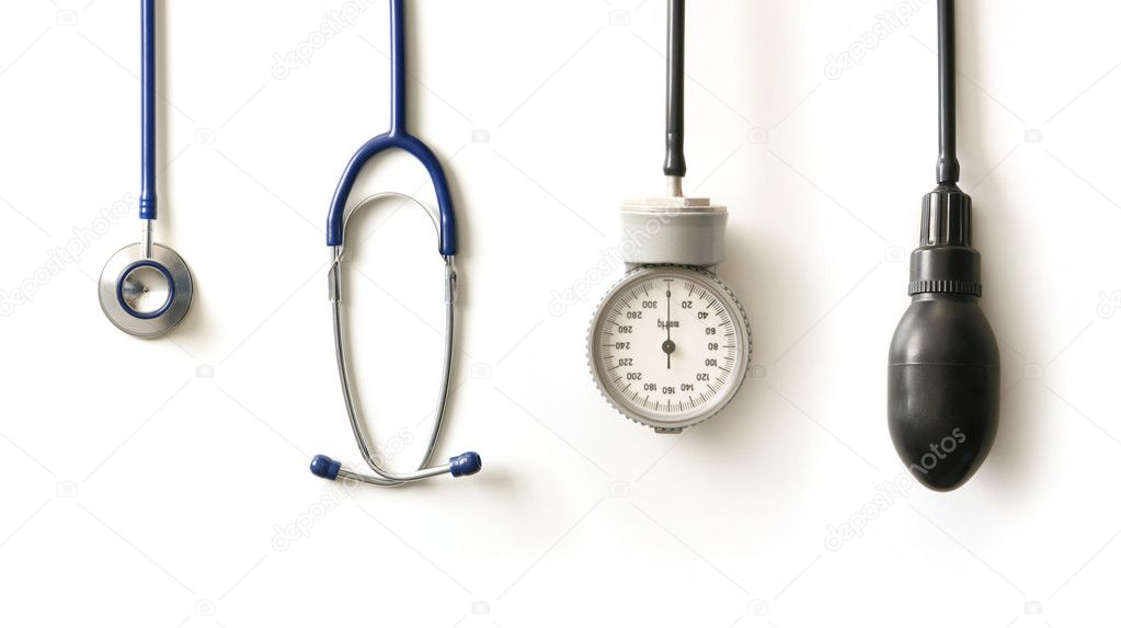 Stethoscope isolated on white — Stock Photo #16031589
