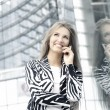 Woman talking on the phone — Stock Photo #16169577