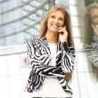 Woman talking on the phone — Stock Photo #16169583