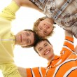 Royalty-Free Stock Photo: Group of smiling teenagers staying together and looking at camera