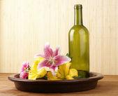Bottle of massaging oil — Stock Photo