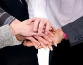 Group handshake — Stock Photo