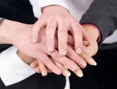 Group handshake — Stock Photo