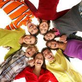 Nastolatki na białym tle — Zdjęcie stockowe