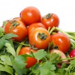 Tomatoes and parsley  — Stock Photo