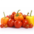 Tomatoes and paprika — Stock Photo