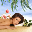 Attractive woman getting spa treatment — Stock Photo #16173217