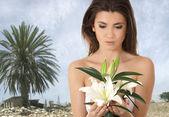 Desert lily — Stock Photo