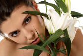 Mujer atractiva — Foto de Stock