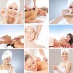 collage de spa compuesta por muchos elementos diferentes — Foto de Stock