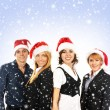 Young attractive business in Christmas style — Foto Stock