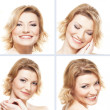 Stockfoto: Collage with nine portraits