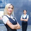 Two young attractive business women — Stock Photo #21488063