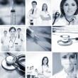 Collage made of some medical elements — Stock Photo #21488119