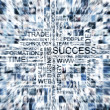Abstract business collage made of many blury images - Stock Photo