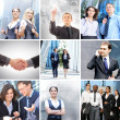 Business collage av några olika element — Stockfoto