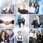 Business collage av några olika element — Stockfoto