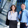 Business man and business woman - Stock Photo