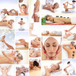 Collage of images with lovely women and health — Stok Fotoğraf #21489197