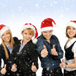 Young attractive business in Christmas style - Photo