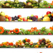 Stock Photo: 4 nutrition textures