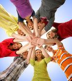 Adolescenti isolati su bianco — Foto Stock