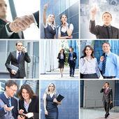 Colagem de negócios feita de alguns elementos diferentes — Foto Stock