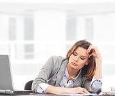 бизнес женщина, работающая — Стоковое фото