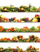 4 voeding texturen — Stockfoto