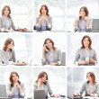 Business woman working in office — Foto Stock