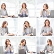 Business woman working in office — Stock Photo #22320161