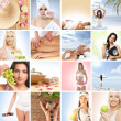Beautiful spa and health collage made of many elements - Stockfoto