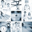 Collage made of some medical elements — Stock Photo