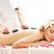Attractive woman getting spa treatment — Stock Photo #22320637