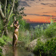 Young, beautyful and sexy savage girl in jungle — Stock fotografie #22321277