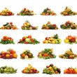 Vegetables isolated on white - 图库照片