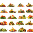 Foto de Stock  : Vegetables isolated on white