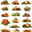 Stockfoto: Vegetables isolated on white
