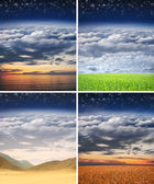 Collage made of some different scenic landscapes — Stock Photo