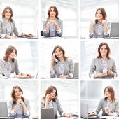 Business woman working in office — Stockfoto