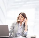 Business woman in office — Foto Stock