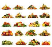 Zelenina izolovaných na bílém — Stock fotografie