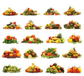 白で隔離される野菜 — ストック写真