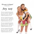 Young and beautiful bavarian girls isolated over white backgroun - Stock Photo