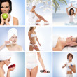 A collage of images with lovely women and health — Stock Photo #23995585