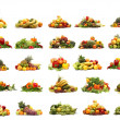 Vegetables isolated on white - Foto Stock