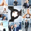 Stock Photo: Collage with lot of different business working together