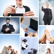 Collage with a lot of different business working together — Stock Photo #23996007