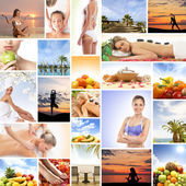 Collage made of many different elements — Stock Photo